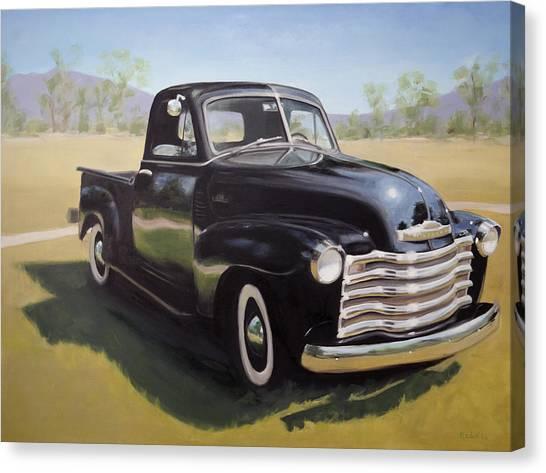 Le Camion Noir Canvas Print