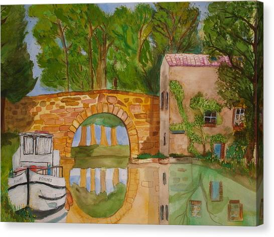 Le Canal Du Midi Canvas Print by Aline Kala