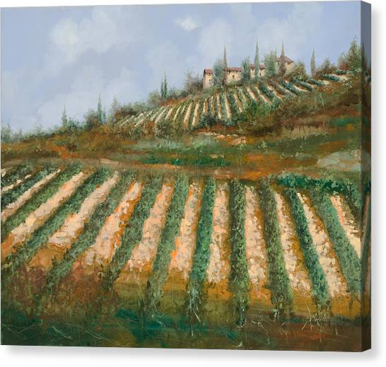 Grape Canvas Print - Le Case Nella Vigna by Guido Borelli