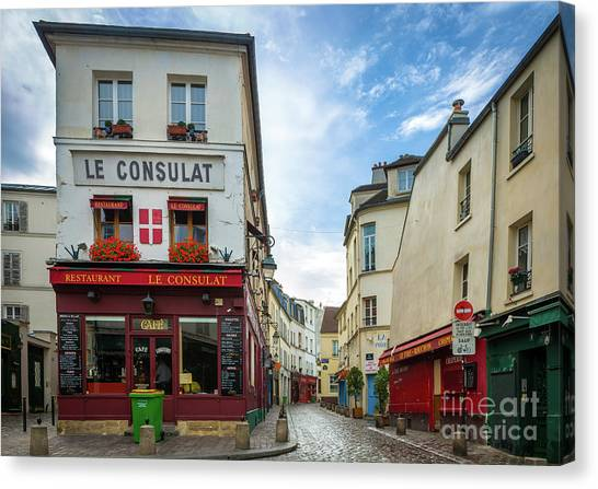 Europa Canvas Print - Le Consulat by Inge Johnsson