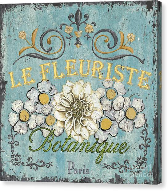 Flower Shop Canvas Print - Le Fleuriste De Botanique by Debbie DeWitt