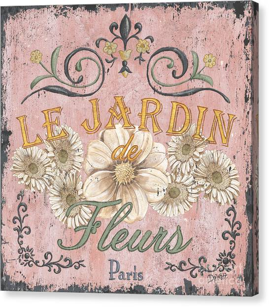 Flower Shop Canvas Print - Le Jardin 1 by Debbie DeWitt
