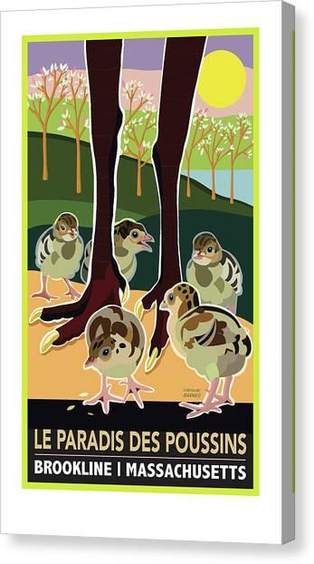 Le Paradis Des Poussins Canvas Print