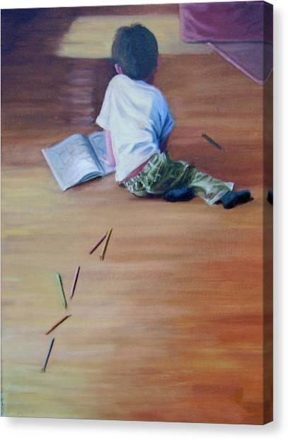 Le Petit Artiste Canvas Print by Tahirih Goffic