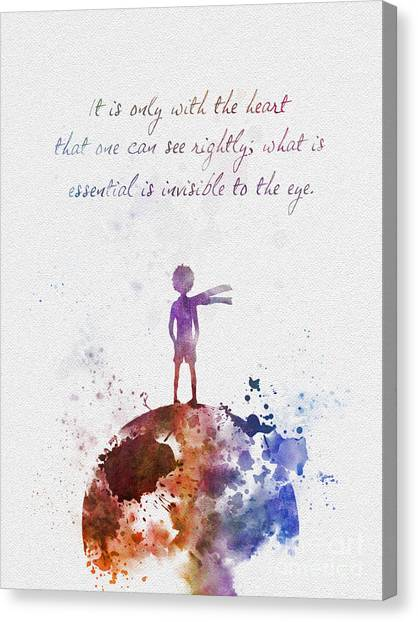 With Canvas Print - Le Petit Prince by Rebecca Jenkins