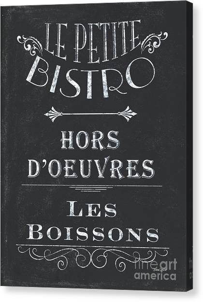 Bar Canvas Print - Le Petite Bistro 1 by Debbie DeWitt
