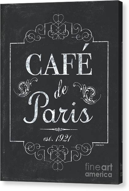 Bar Canvas Print - Le Petite Bistro 3 by Debbie DeWitt