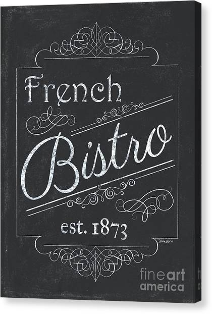Bar Canvas Print - Le Petite Bistro 4 by Debbie DeWitt
