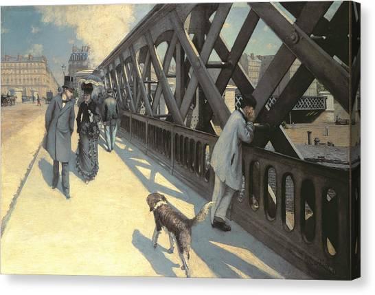 1876 Canvas Print - Le Pont De L'europe by Gustave Caillebotte