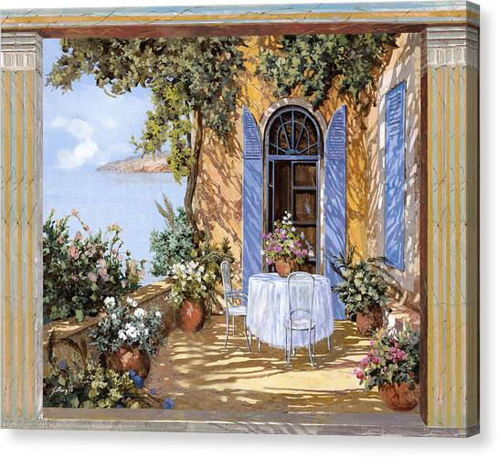Lake Canvas Print - Le Porte Blu by Guido Borelli
