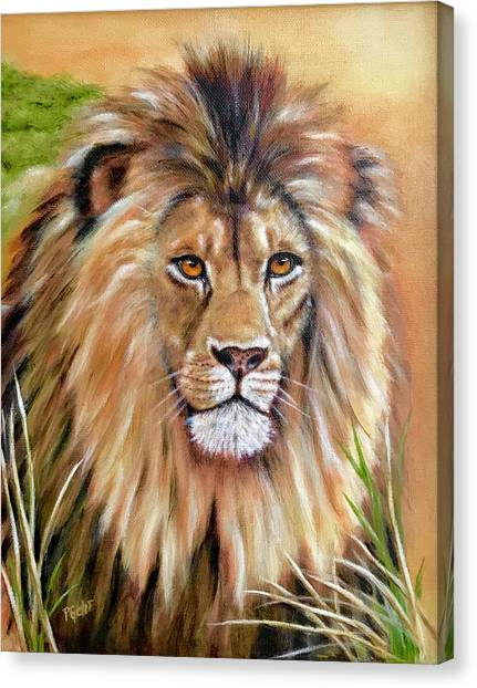 Le Roi-the King, Tribute To Cecil The Lion   Canvas Print