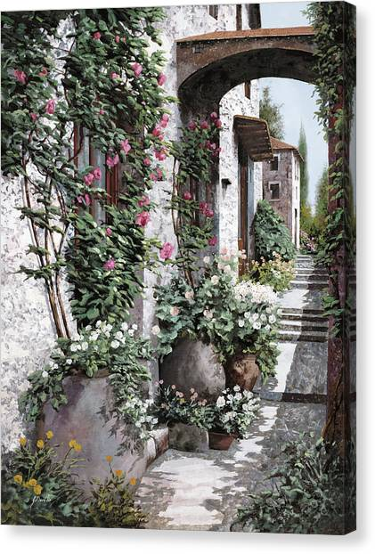 Villages Canvas Print - Le Rose Rampicanti by Guido Borelli