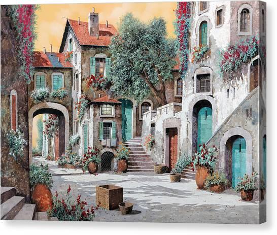 Villages Canvas Print - Le Scale Tra Le Case by Guido Borelli