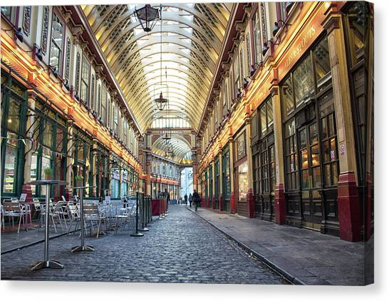Business-travel Canvas Print - Leadenhall Market by Martin Newman