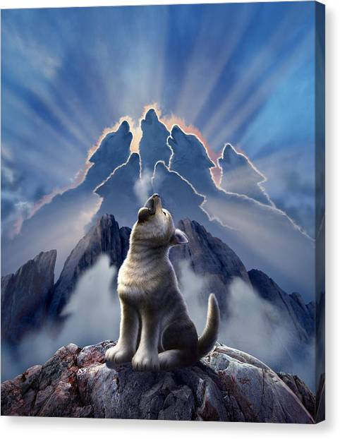 Cliffs Canvas Print - Leader Of The Pack by Jerry LoFaro