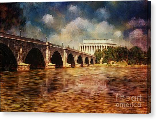 Lincoln Memorial Canvas Print - Leading To Lincoln by Lois Bryan