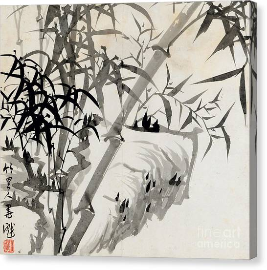 Leaves Canvas Print - Leaf C by Rang Tian