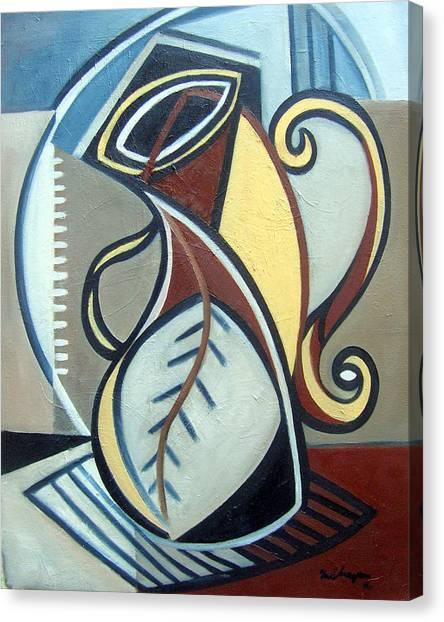 Leaf Vase Canvas Print by Martel Chapman