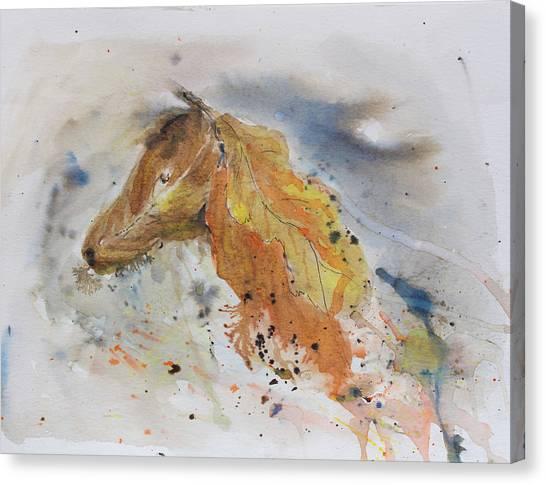 Leafy Horse Canvas Print