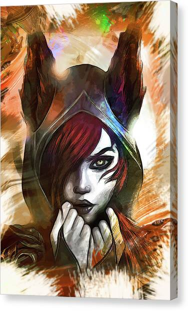 Resident Evil Canvas Print - League Of Legends Xayah by Dusan Naumovski