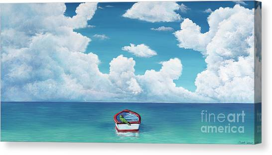 Leaky Little Boat Canvas Print