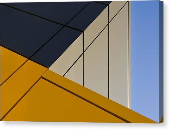 Shapes Canvas Print - Leaning Against The Blue Sky by Gerard Jonkman