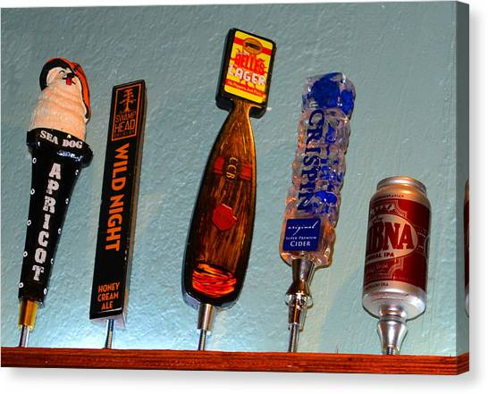 Craft Beer Canvas Print - Tipsy Beer Taps by David Lee Thompson