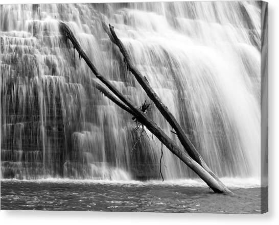 Leaning Falls Canvas Print