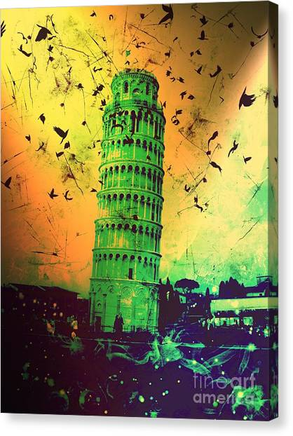 Leaning Tower Of Pisa 32 Canvas Print