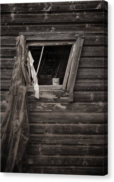 Leaning Window Canvas Print