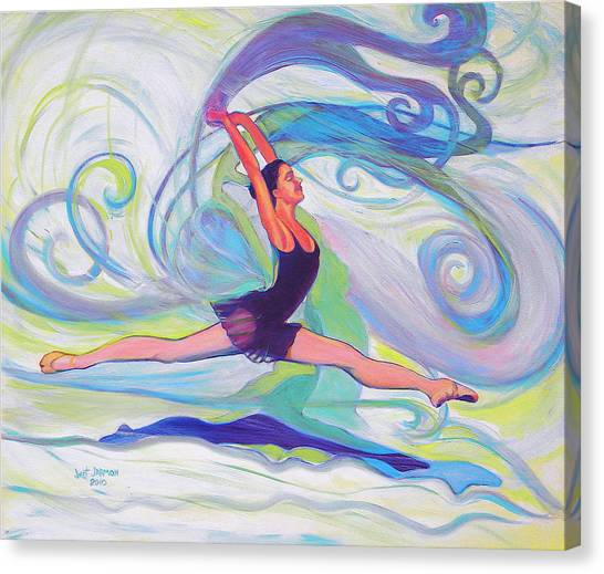 Canvas Print featuring the painting Leap Of Joy by Jeanette Jarmon