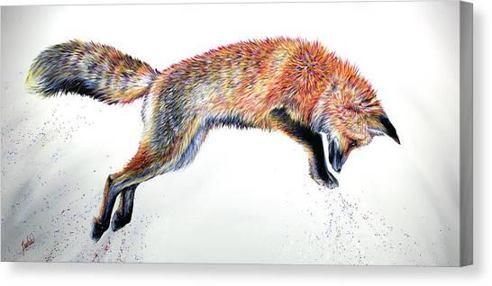 Fox Glacier Canvas Print - Leap by Teshia Art