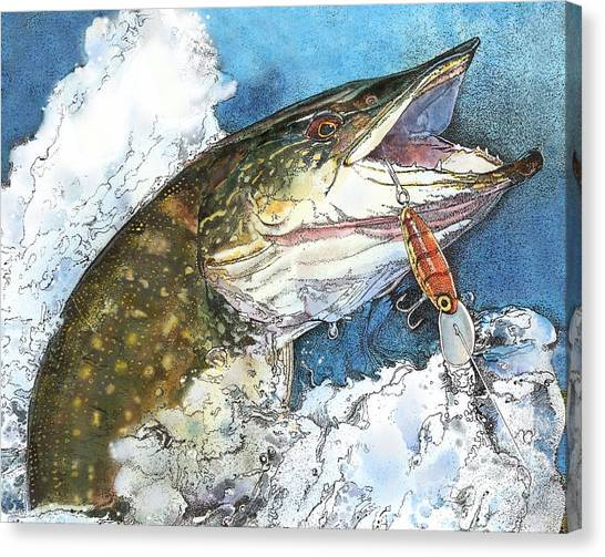 leaping Pike Canvas Print