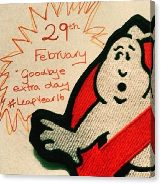 Ghostbusters Canvas Print - #leapyear #extraday #notforanotheryear by Bec Ward