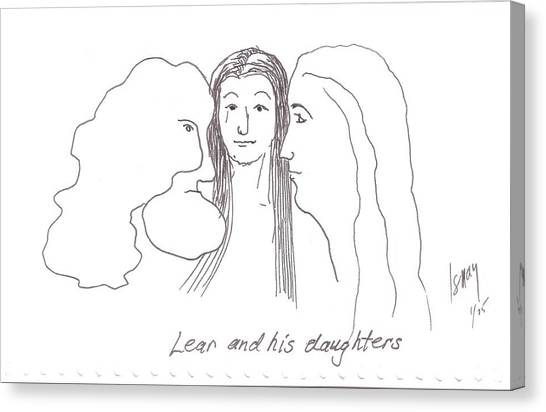 Lear And His Daughters Canvas Print