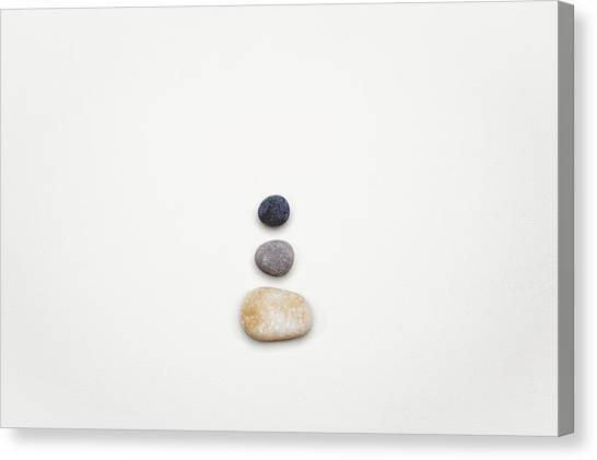 Pebbles Canvas Print - Learning To Let Go by Scott Norris