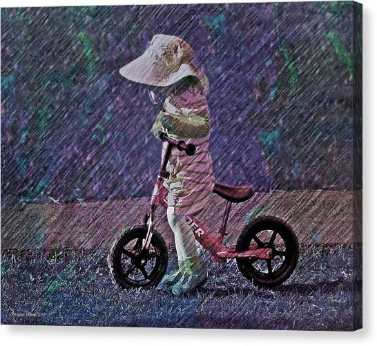 Learning To Ride Canvas Print
