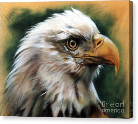 Leather Eagle Canvas Print
