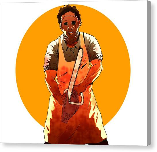 Chainsaw Canvas Print - Leatherface by Jorgo Photography - Wall Art Gallery