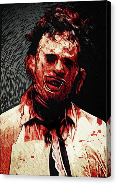 Chainsaw Canvas Print - Leatherface by Zapista