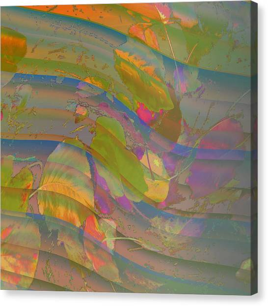 Canvas Print featuring the digital art Leave Print by Visual Artist Frank Bonilla