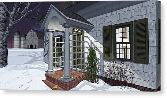 Leave The Porch Light On Canvas Print