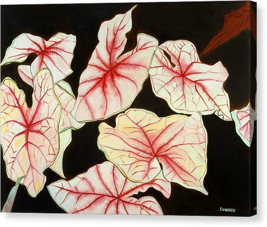 Leaves Canvas Print by Sunhee Kim Jung