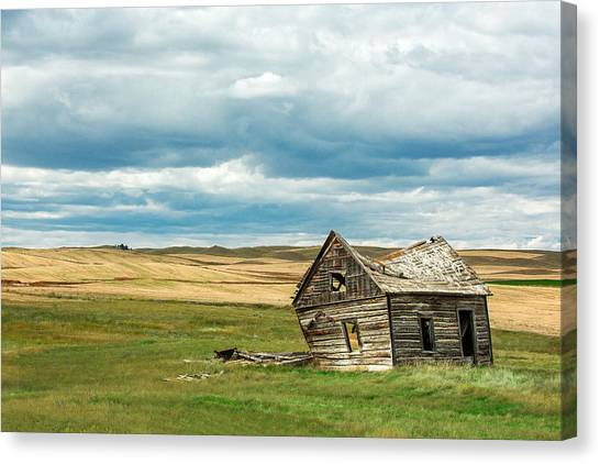 Old Houses Canvas Print - Leaving Home by Todd Klassy