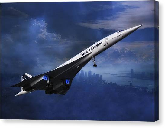 New York Jets Canvas Print - leaving New York by Joachim G Pinkawa