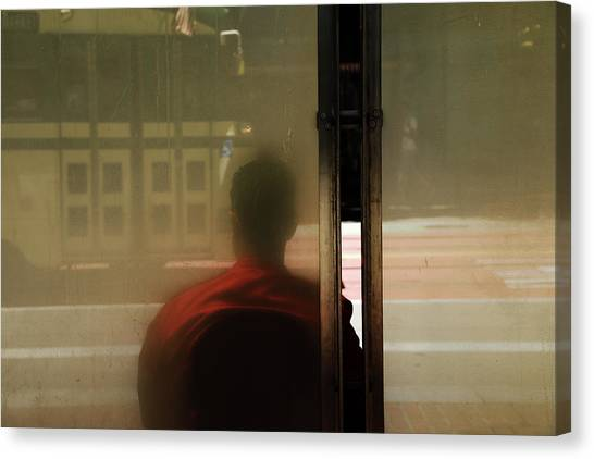 Canvas Print - Leaving On A Train by The Artist Project