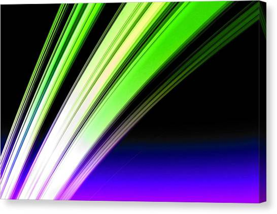 Leaving Saturn In Cobalt And Lime Canvas Print