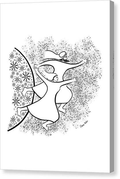 Leaving The Garden Canvas Print by Chana Helen Rosenberg