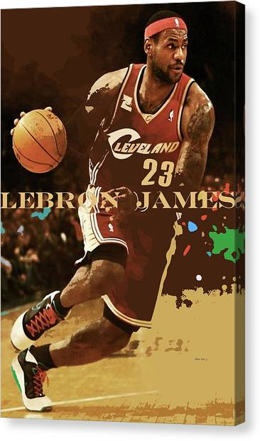 Larry Bird Canvas Print - Lebron James, King James, Cleveland Cavaliers by Thomas Pollart