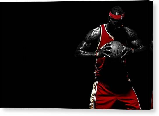Lebron James Canvas Print - Lebron James by Maye Loeser